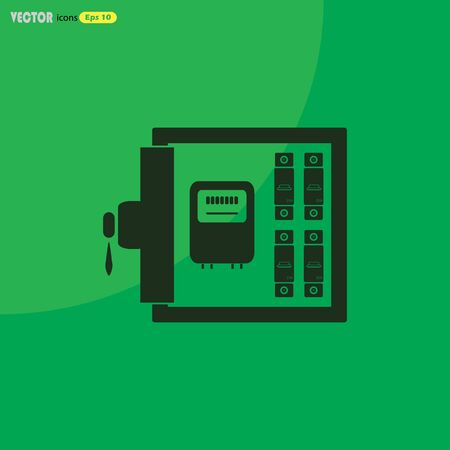 distribution box: Electric distribution box vector icon