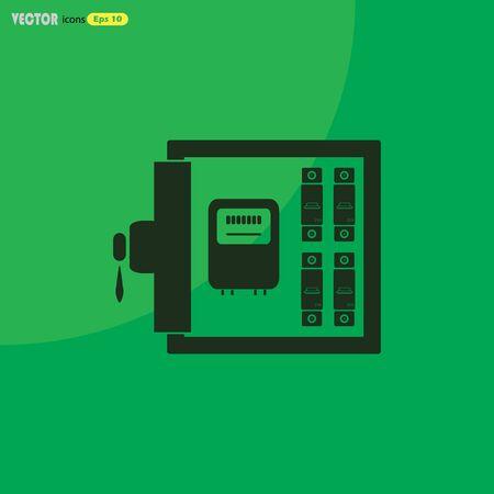 breaker: Electric distribution box vector icon