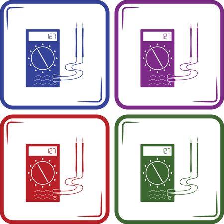 ampere: Multimeter Simple Vector Icon.