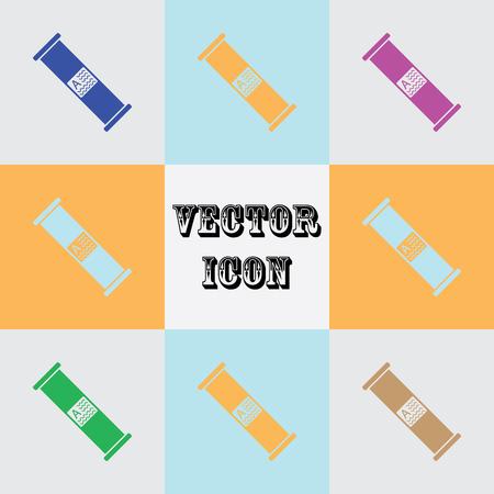 Electric fuse vector icon Illustration