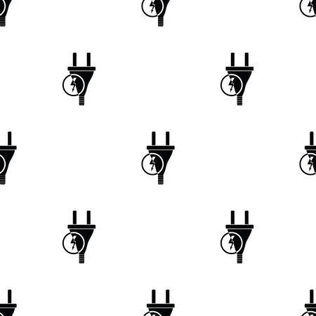 unplugged: Electric plug Vector icon