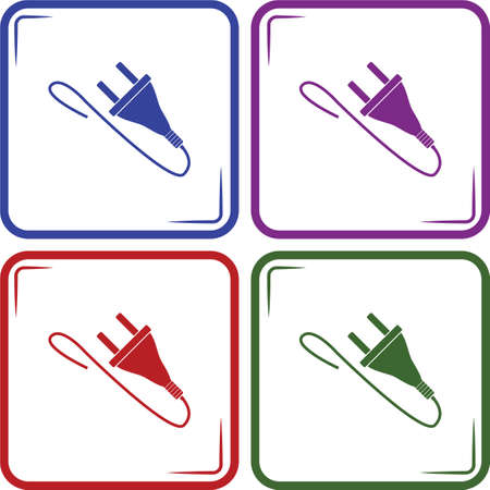 electric plug: Electric plug Vector icon