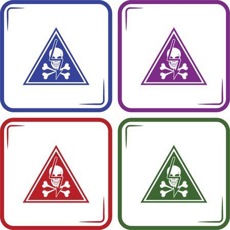 voltage danger icon: danger high voltage vector icon