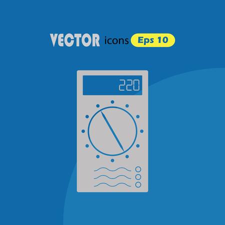 simple: Multimeter Simple Vector Icon.