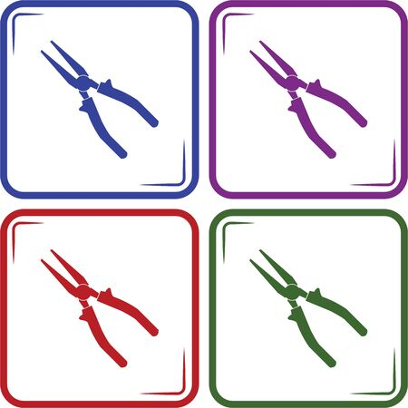 pliers: Pliers - vector icon