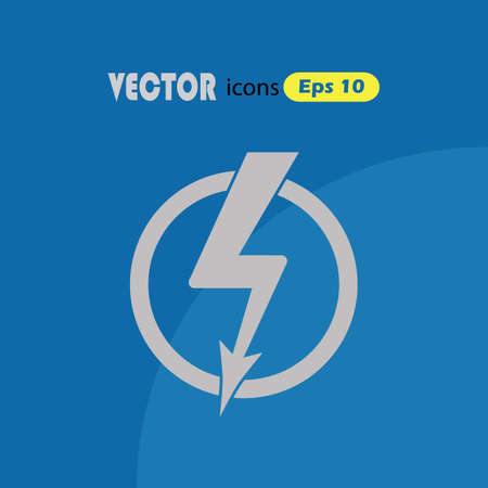 simple: Lightning simple vector icon