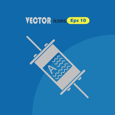 fuse: Electric fuse vector icon Illustration