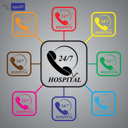 twenty four hours: Support emergency icon