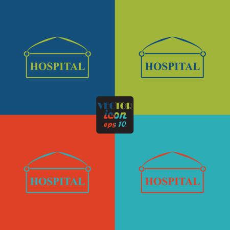 medics: Hospital plate icon