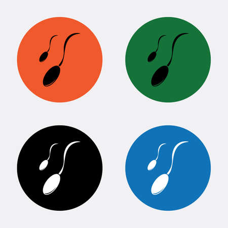 spermatozoa: Sperm icon Illustration