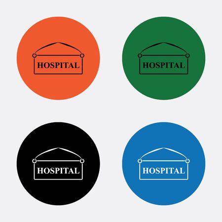 plate: Hospital plate icon
