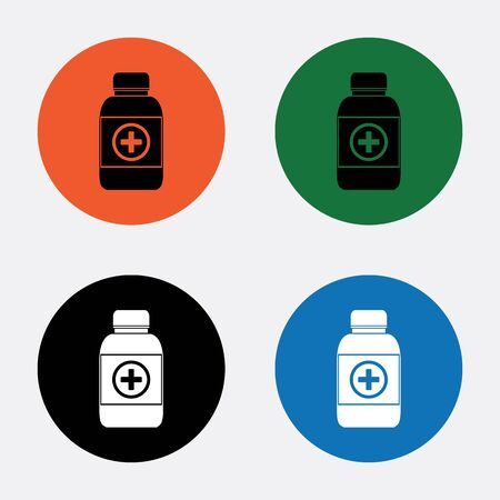 a substance vial: Medicine bottle icon