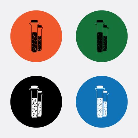 drug discovery: Test-tube icon
