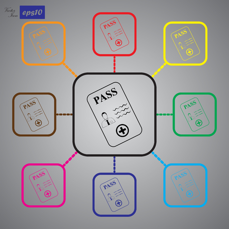 identification: Identification card icon.