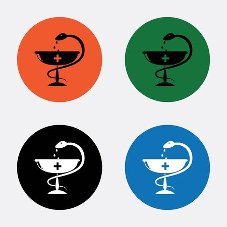 science symbols metaphors: Medical sign icon