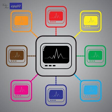 cardiogram: Cardiogram monitoring icon.