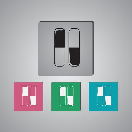 capsule: Capsule Icon Illustration