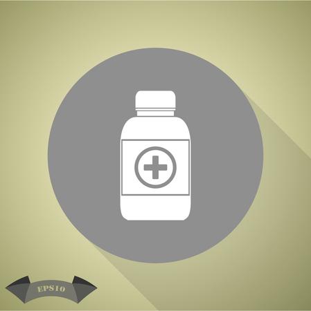 aspirin: Medicine bottle icon