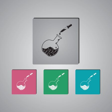 medical test: Medical test tube and pipette, icon Illustration