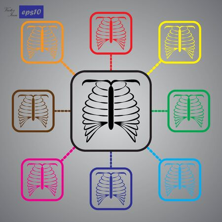 chest disease: human chest icon