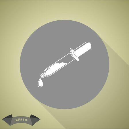 pipette: Pipette icon Illustration