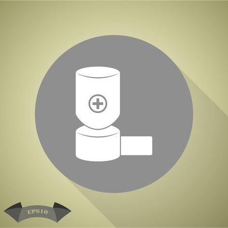 asthma inhaler: inhaler icon Illustration