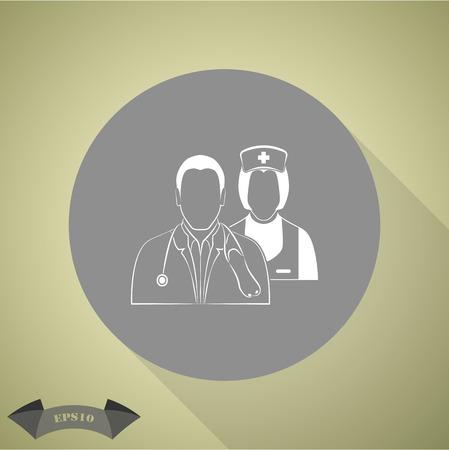 medical staff: Medical staff icon