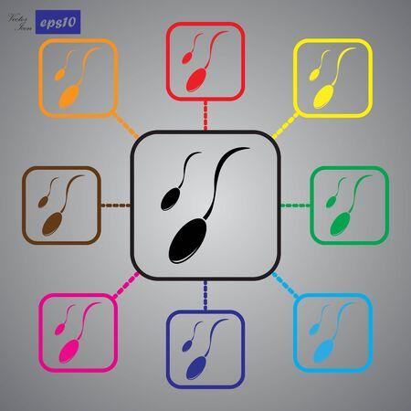 espermatozoides: Icono de esperma