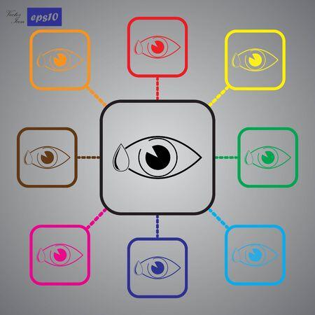 amount: Eye drop icon Illustration