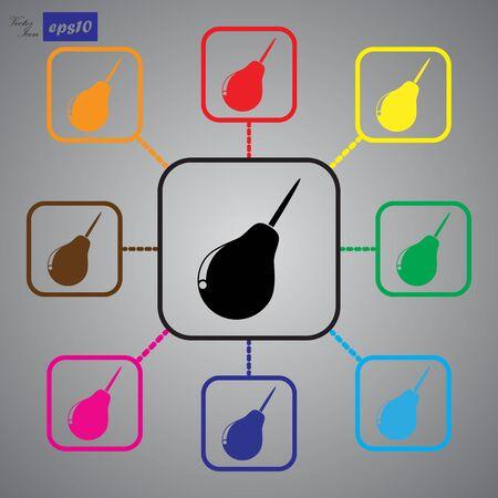 einlauf: Enema icon Illustration