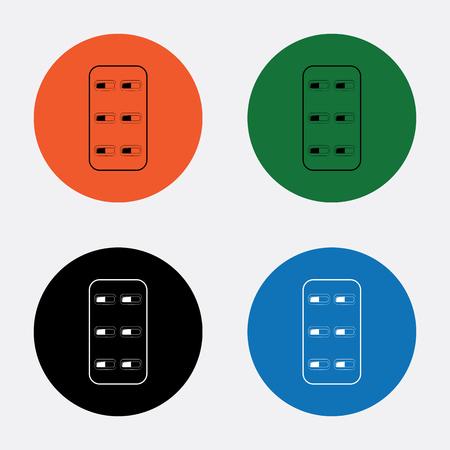 capsules: Medical capsules icon Illustration