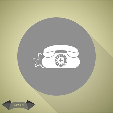 phone vector: Clinic Phone vector icon.