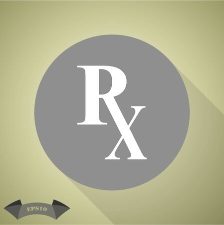 rx: Rx pharmacy medicine icon