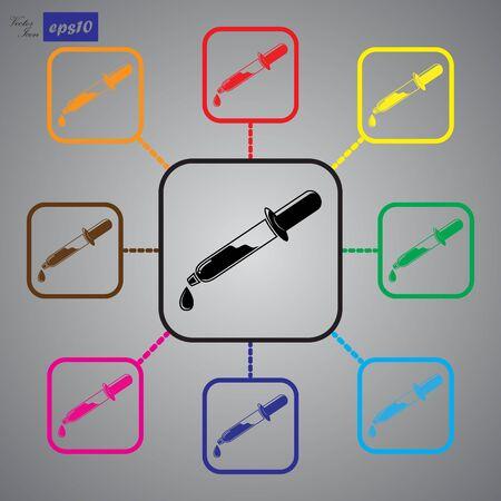 pipette: Icono de la pipeta
