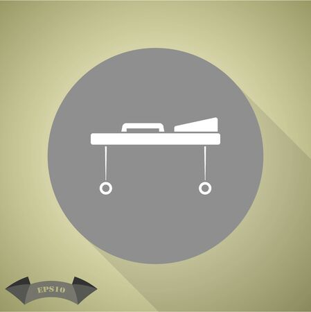 emergency room: Hospital bed vector icon Illustration