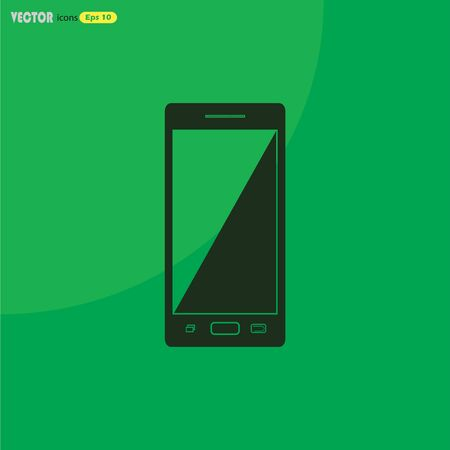 communicator: smart phone vector icon Illustration