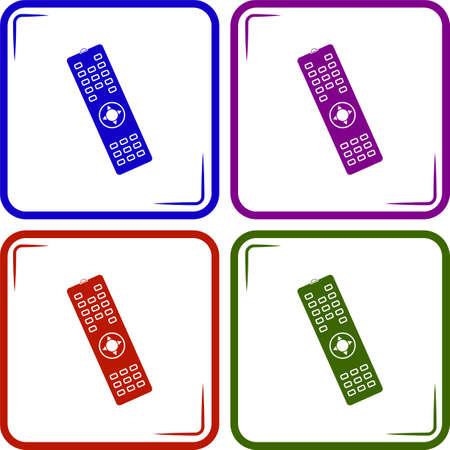 remote: Remote control vector icon