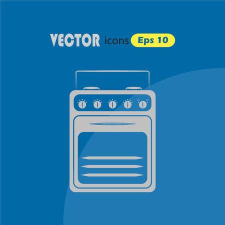 gas cooker: Gas stove vector icon