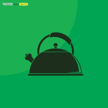 tea kettle: Tea kettle vector icon.