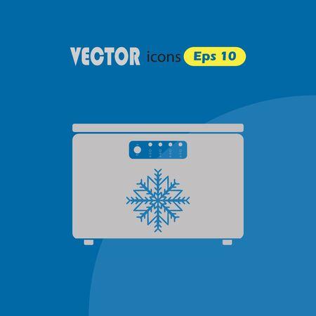 Vriezer vector icon