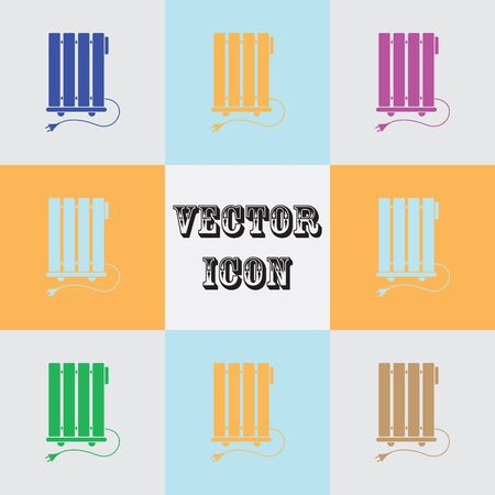 warmer: Heater vector icon Illustration