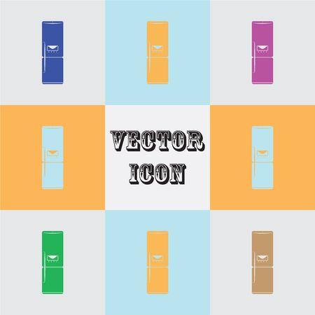 icebox: refrigerator vector icon Illustration