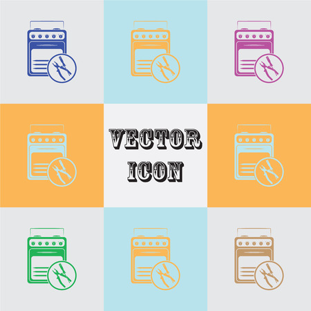 household appliances: Repair household appliances vector icon Illustration
