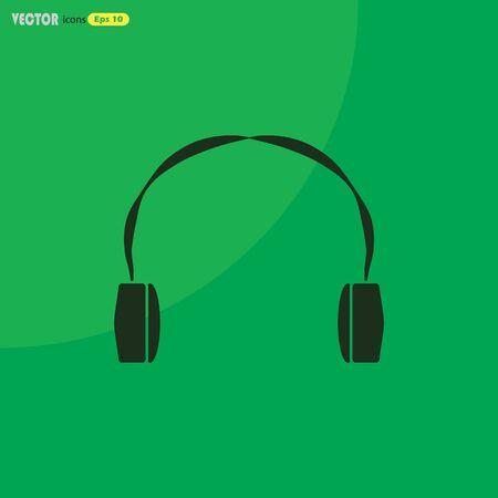 portable audio: Headphone Icon Vector Illustration