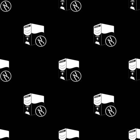 computer repair technician: computing services icon Illustration