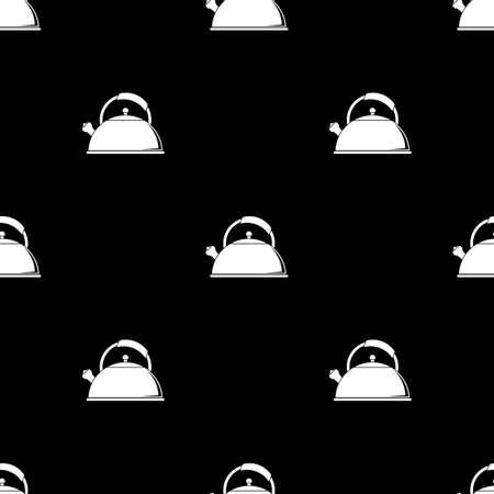 Tea kettle vector icon.