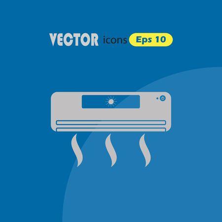 aire acondicionado: Icono del acondicionador de aire Vectores