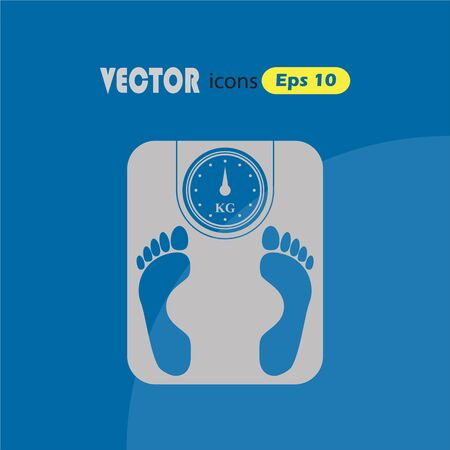 weighing machine: Weighing Machine Icon Illustration