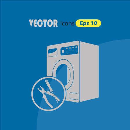 maintenance fitter: Washing machine repair icon