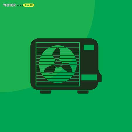 expel: Air conditioner vector icon